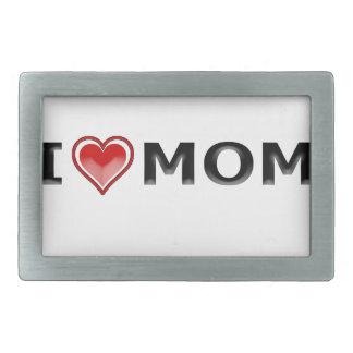 I Love My Mom Rectangular Belt Buckle