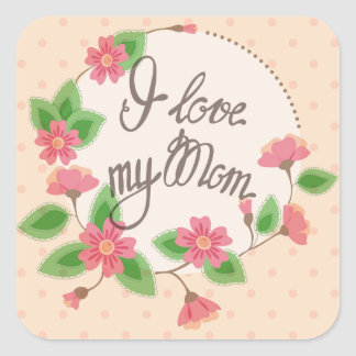 I love my Mom sticker vintage