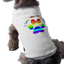 I Love My Mommies Gay Pride Dog Tees