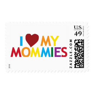 I love my Mommies Postage Stamp