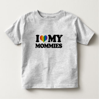 I love my mommies toddler t-shirt