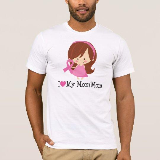 I Love My MomMom Breast Cancer Ribbon T-Shirt