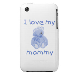 I love my mommy (blue bear) iPhone 3 Case-Mate cases
