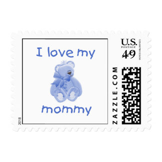 I love my mommy (blue bear) stamps