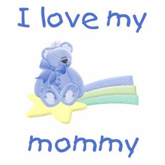 I love my mommy blue bear w star acrylic cut outs
