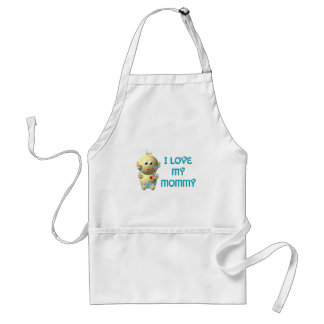 I love my mommy Bouncing Baby with Heart & Rattles Adult Apron