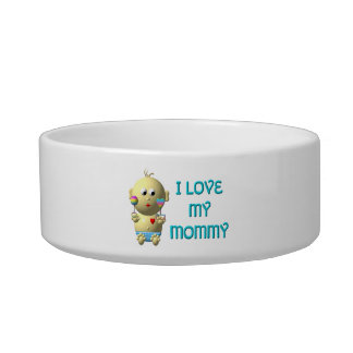 I love my mommy Bouncing Baby with Heart & Rattles Bowl