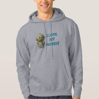 I love my mommy Bouncing Baby with Heart & Rattles Hoodie