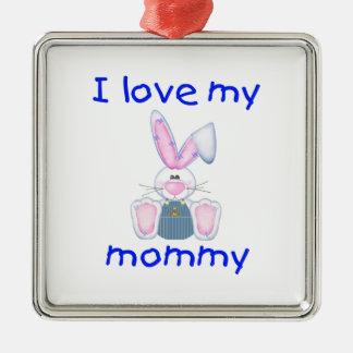 I love my mommy (boy bunny) christmas tree ornaments