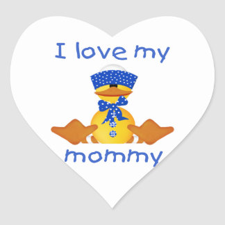 I love my mommy (boy duck) heart sticker
