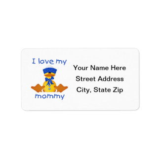 I love my mommy (boy duck) label