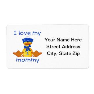 I love my mommy (boy duck) shipping label