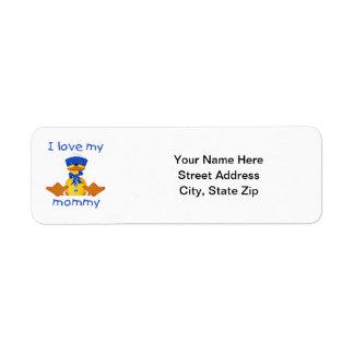 I love my mommy (boy duck) return address label