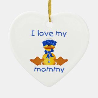 I love my mommy (boy duck) christmas ornament