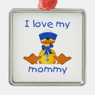 I love my mommy (boy duck) christmas tree ornament