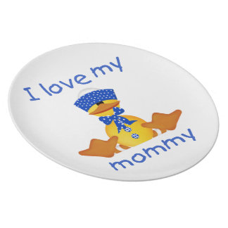 I love my mommy (boy duck) plate