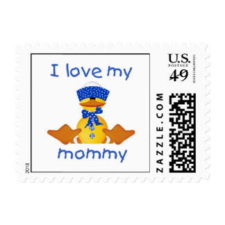 I love my mommy (boy duck) stamp