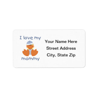 I love my mommy (boy ducky) label