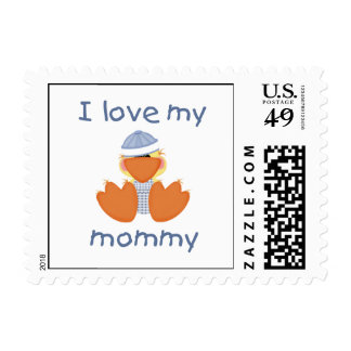 I love my mommy (boy ducky) stamps