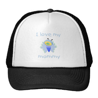 I love my mommy (boy flutterbug) trucker hat