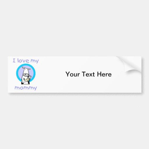I love my mommy (cow) bumper sticker