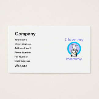 I love my mommy (cow) business card