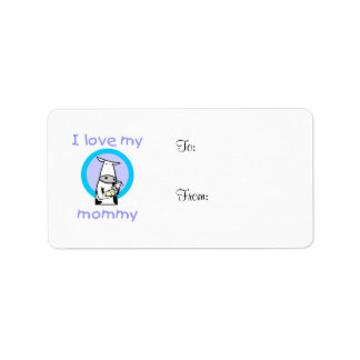 I love my mommy (cow) label