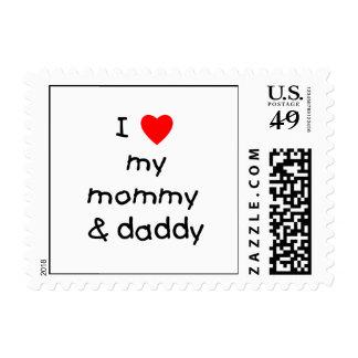 I Love My Mommy & Daddy Postage