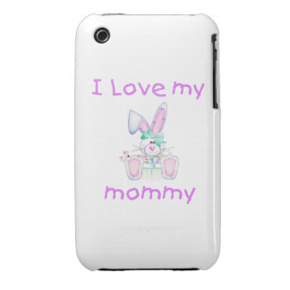 I love my mommy (girl bunny) iPhone 3 Case-Mate cases
