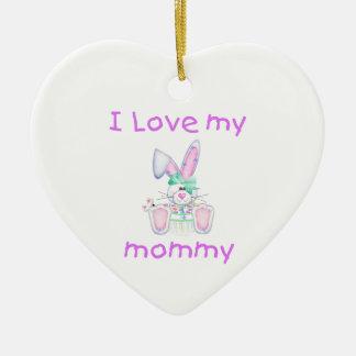 I love my mommy (girl bunny) ornament