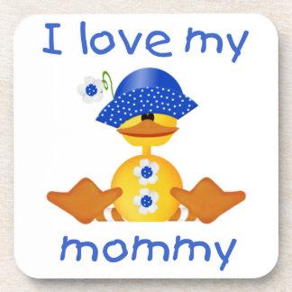 I love my mommy (girl duck) coaster