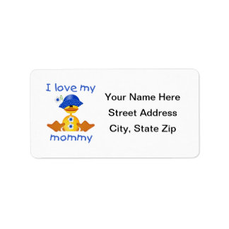 I love my mommy (girl duck) label