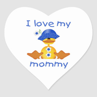 I love my mommy (girl duck) heart sticker