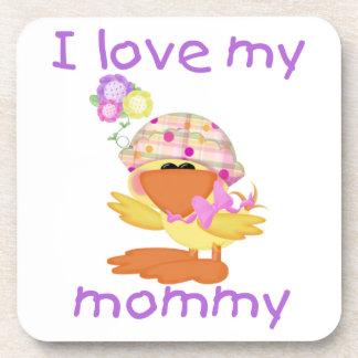 I love my mommy (girl ducky) coaster
