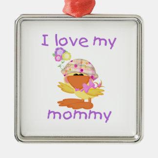 I love my mommy (girl ducky) christmas ornament
