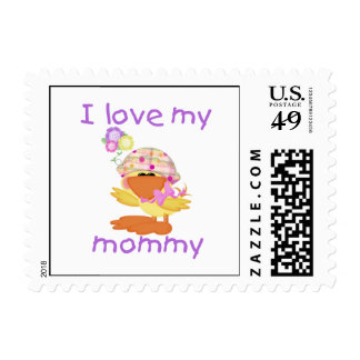 I love my mommy (girl ducky) stamps