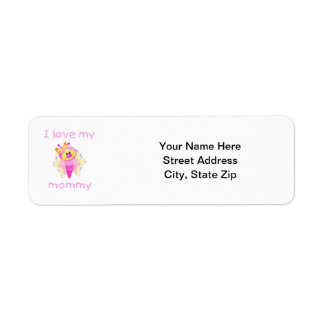 I love my mommy (girl flutterbug) label