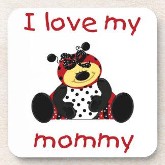 I love my mommy (girl ladybug) coaster
