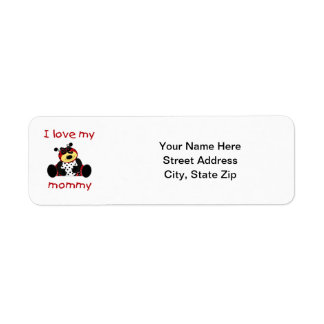 I love my mommy (girl ladybug) label