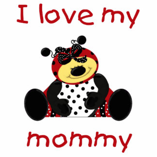I love my mommy (girl ladybug) statuette