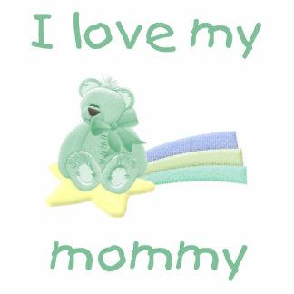 I love my mommy green bear w star photo cutout
