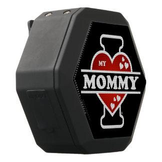 I Love My Mommy Heartbeats Black Bluetooth Speaker