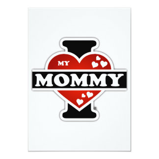 I Love My Mommy Heartbeats Card