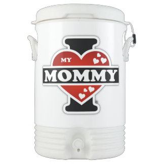 I Love My Mommy Heartbeats Cooler