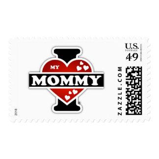 I Love My Mommy Heartbeats Postage