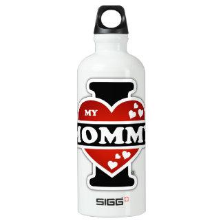 I Love My Mommy Heartbeats Water Bottle