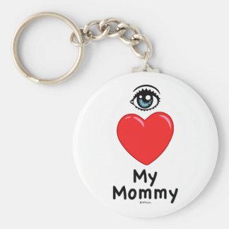 I Love My Mommy Keychain