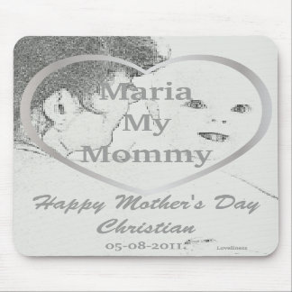 I Love My Mommy Mousepad-Customize