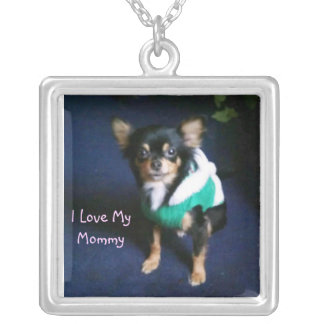 I Love My Mommy Personalized Necklace