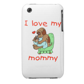 I love my mommy (puppies) iPhone 3 case